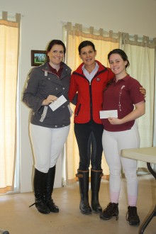 Congratulations to Caitlynn Dumbreck <br/>and Sam Burns<br/>members of the PCA National Dressage Team.<br/>Sponsorship chqs presented by <br/>Marj Radford