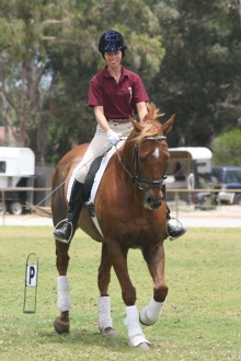 "Shannon Bray riding ""Syd"""
